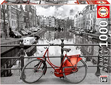 Educa Borras - Serie Coloured B&W, Puzzle 1.000 piezas Ámsterdam ...