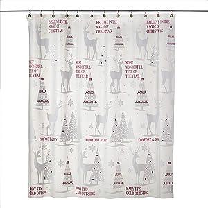 SKL HOME by Saturday Knight Ltd. Reindeer Woods Shower Curtain, Multi