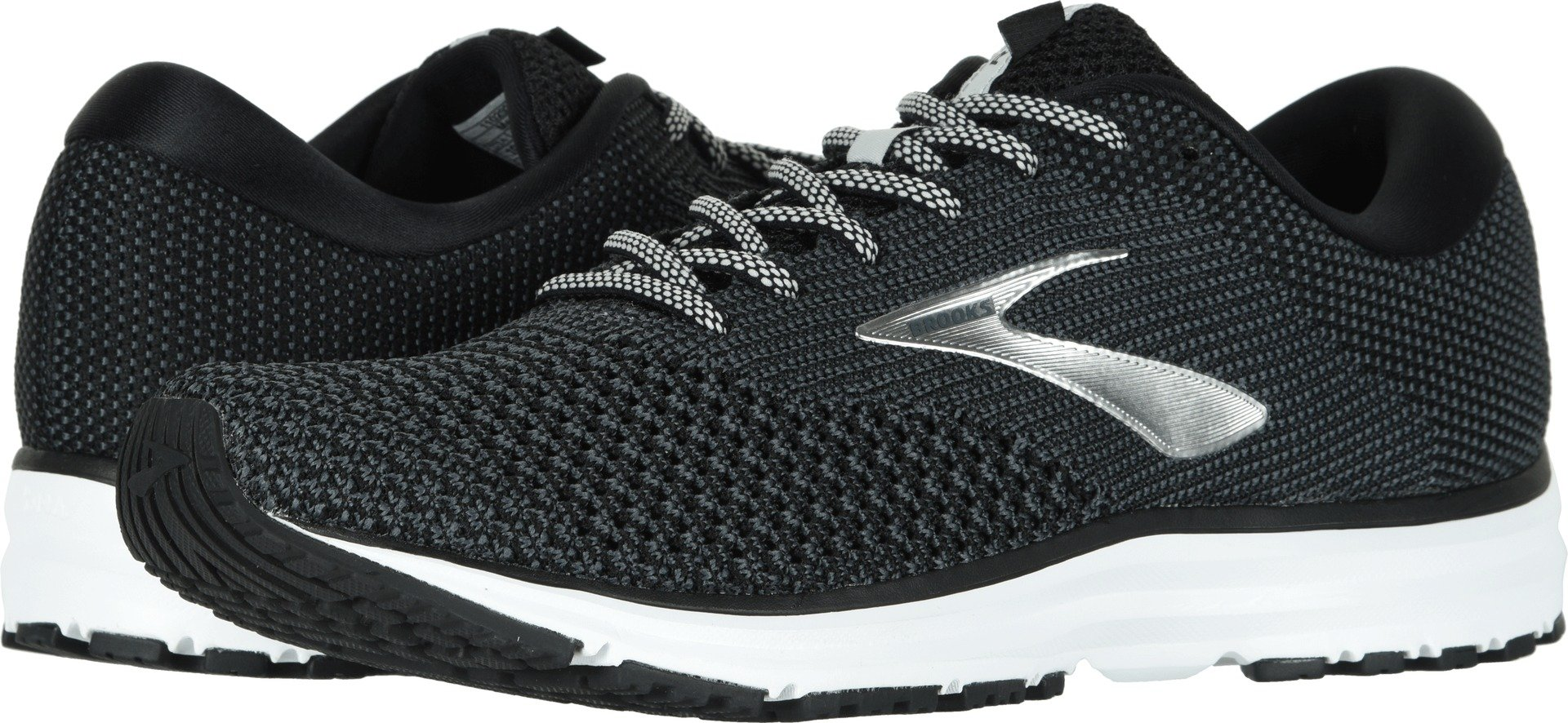 Brooks Men's Revel 2 Black/Grey/Grey 14 D US