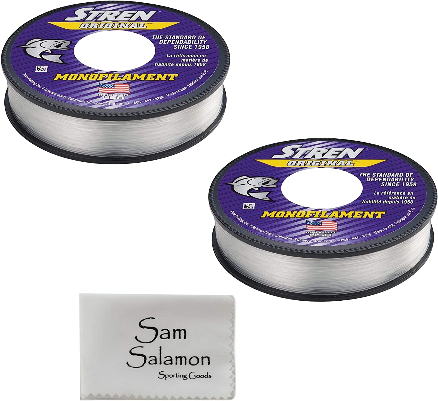Stren Original Service Spool (2 Pack) w/Micro Sam Salamon Cloth