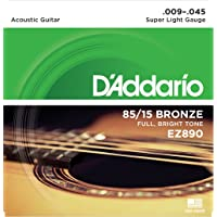 D'Addario 85/15 Bronze Acoustic Guitar Strings_{.009-.045_FULL BRIGHT TONE}_Stainless Steel Material