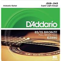D'Addario EZ890 Bronze Superlight Acoustic Guitar Strings