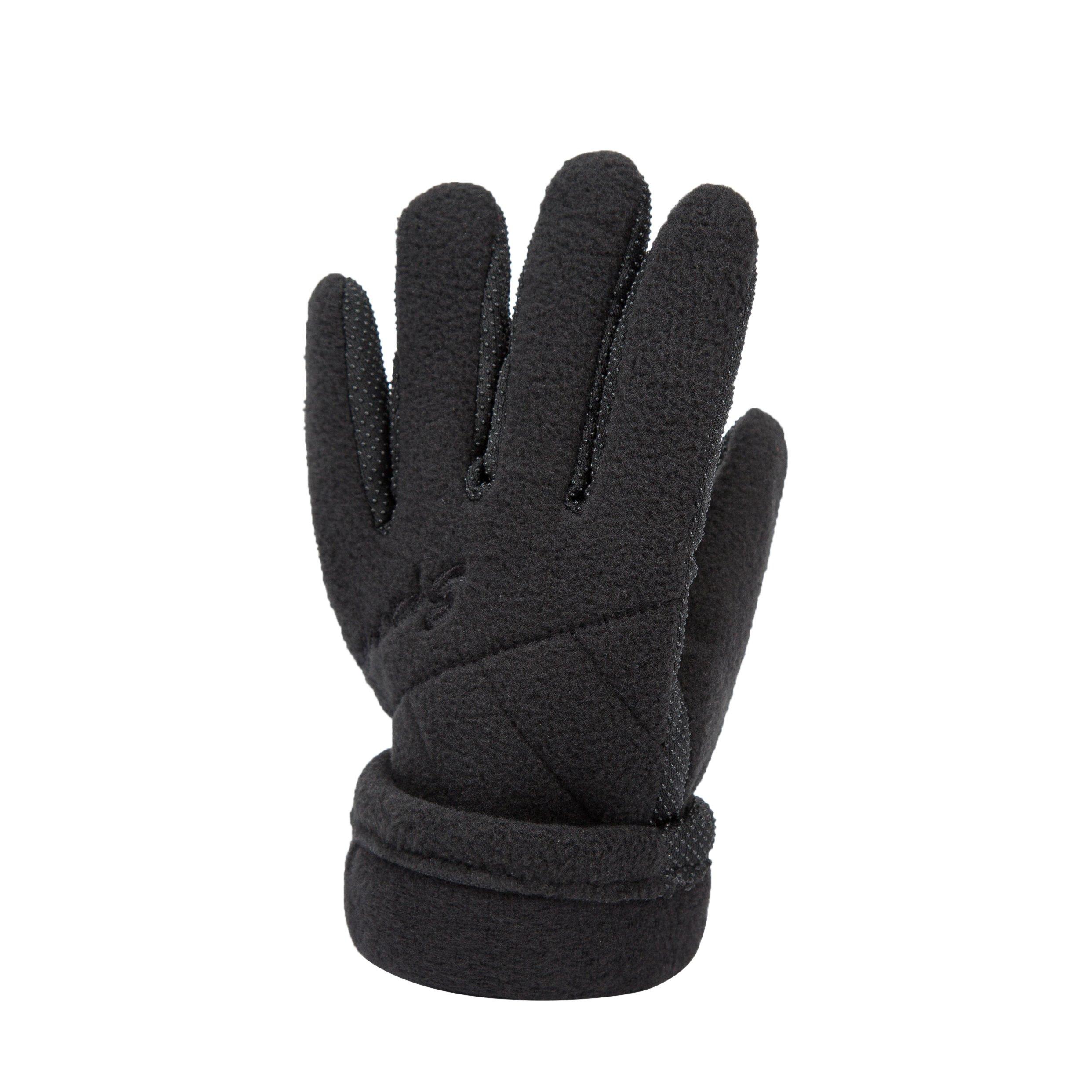 Black Boy girls Women Winter Gloves Anti Slip Fleece Lining For Hiding Snowboard Driving Ski by KimmyKu (Image #2)