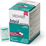 Medi-First 80248 Chewable Mint Antacid Tablets, 250 Tablets 125-Packets of 2