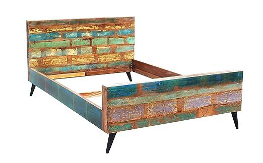 Salesfever Holz Bett In Handarbeit Aus Alt Holz Hergestellt Mit