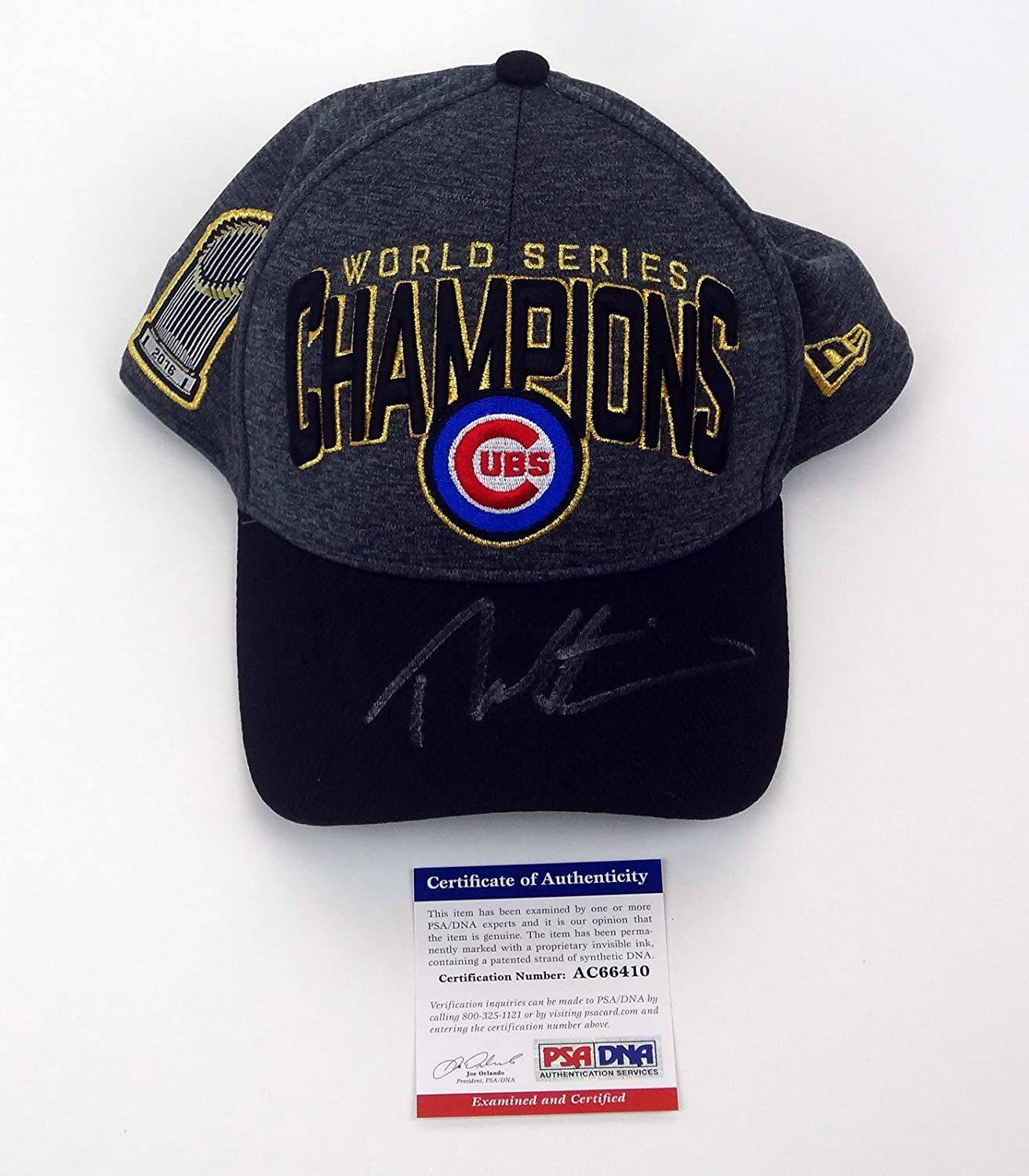 Theo Epstein Signed Autograph Chicago Cubs 2016 World Series Championship  Hat PSA DNA COA at Amazon s Sports Collectibles Store e359e167da0