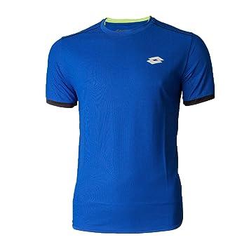 LOTTO AYDEX IV TEE - Camiseta, Hombre, Azul(BLU SPT/BLK)