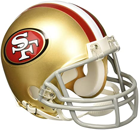 9c489ff3f Amazon.com   NFL San Francisco 49ers Replica Mini Football Helmet ...