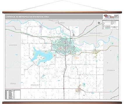 Amazon.com: MarketMAPS Lawrence, KS Metro Area Wall Map ... on lawrence ks tourist attractions, lawrence ks zip code, lawrence ks carpet,