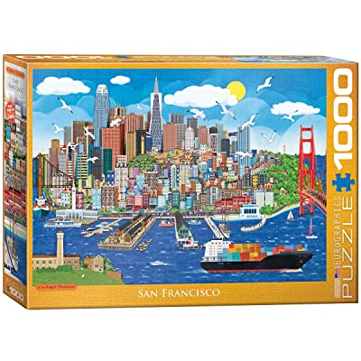 EuroGraphics San Francisco by Jasper Tompson 1000-Piece Puzzle: Toys & Games