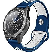 Hanlesi Banda para Samsung Gear S3, Suave Correa de Silicona Deporte Correa Repuesto para Gear S3 Frontier y Accesorios Gear S3 Classic para Hombre y Mujer