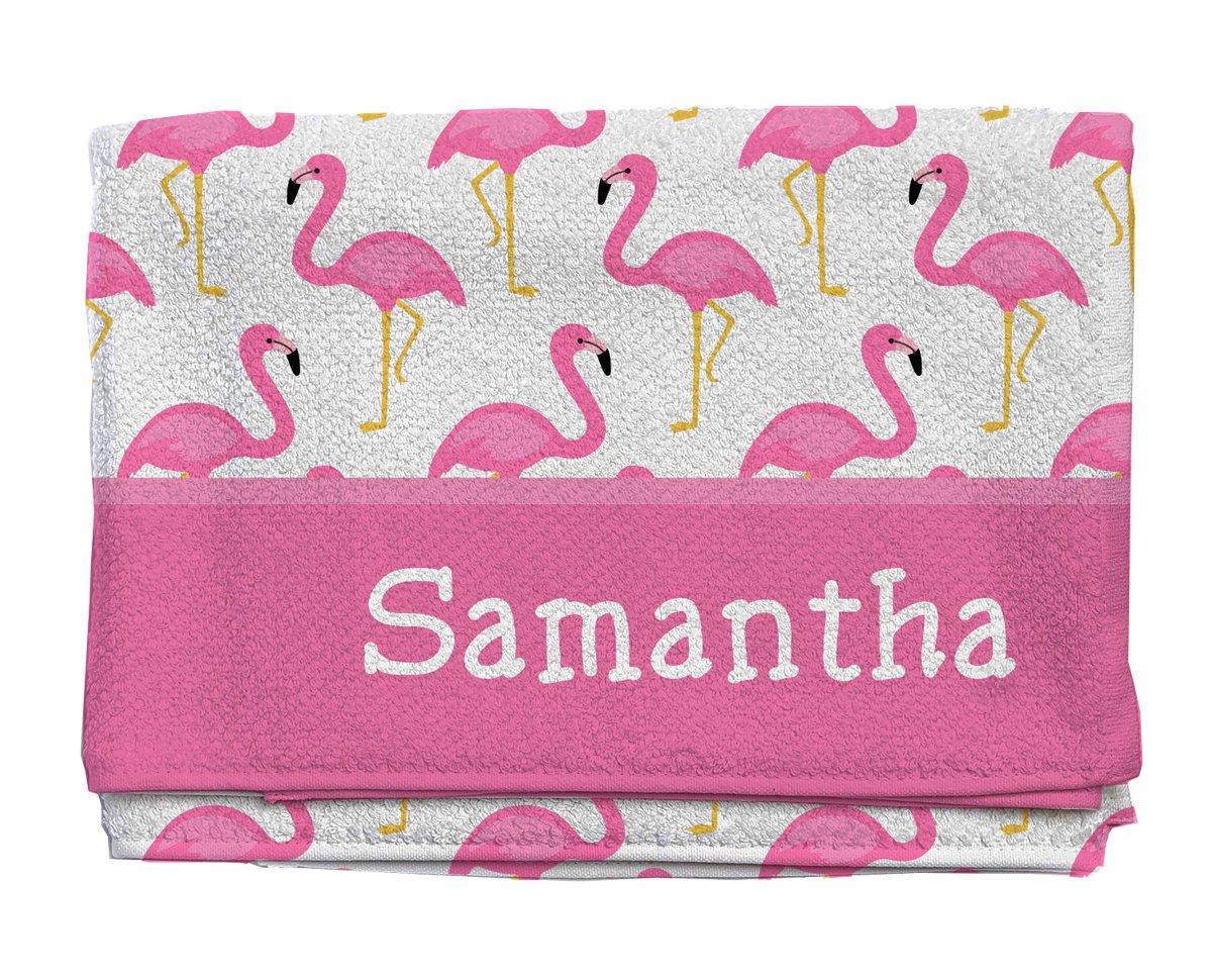 Amazon Com Script And Scribble Fancy Flamingos Personalized Beach