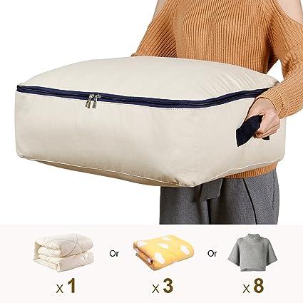 Lifewit Bolsa de almacenamiento Tela Plegable para prendas de cama edredones fundas de edredón manta almohadas prendas de vestir suéteres