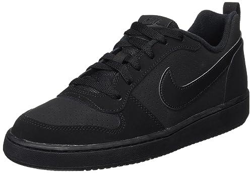 Nike Court Borough Low (GS), Zapatos de Baloncesto Unisex Niños, Negro (Black/White 004), 38.5 EU