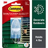 Command Outdoor Window Hook, Large, Clear, 1-Hook, 4-Pack