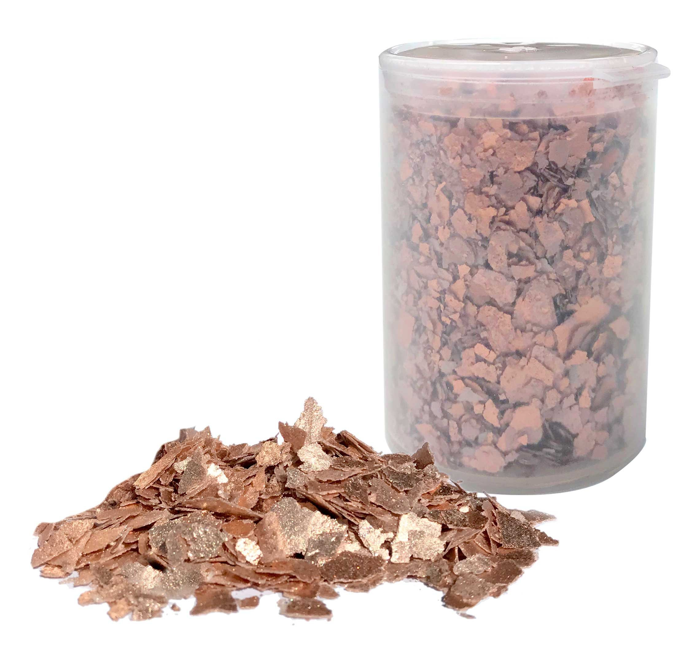 Edible Flakes Rose Gold Love, 6 Grams by Crystal Candy