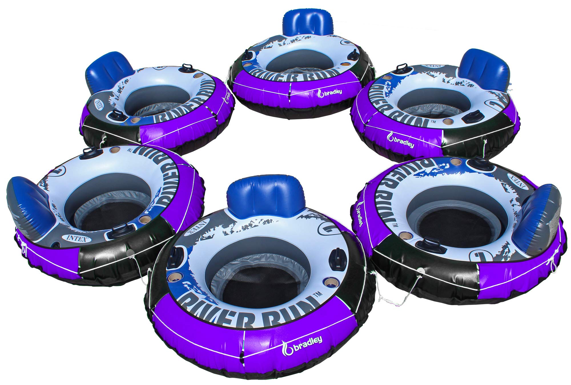 Intex Heavy Duty River Run Tube with Cover (6 Pack) | Floating Lounger | River Tube