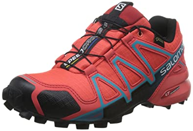 Salomon L39183600, Zapatillas de Trail Running para Mujer, Naranja (Coral Punch/Black/Blue Jay), 38 EU: Amazon.es: Zapatos y complementos