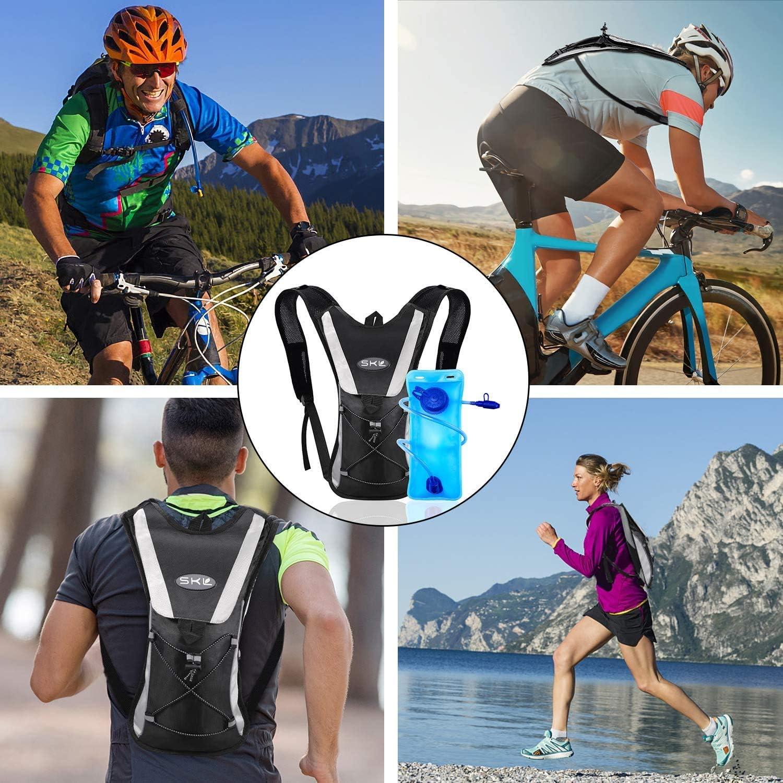 2L Hidrataci/ón Bolsa De Vejiga Ciclismo Mochila De Hidrataci/ón Bolsa De Agua para Deportes Senderismo Camping Escalada Senderismo