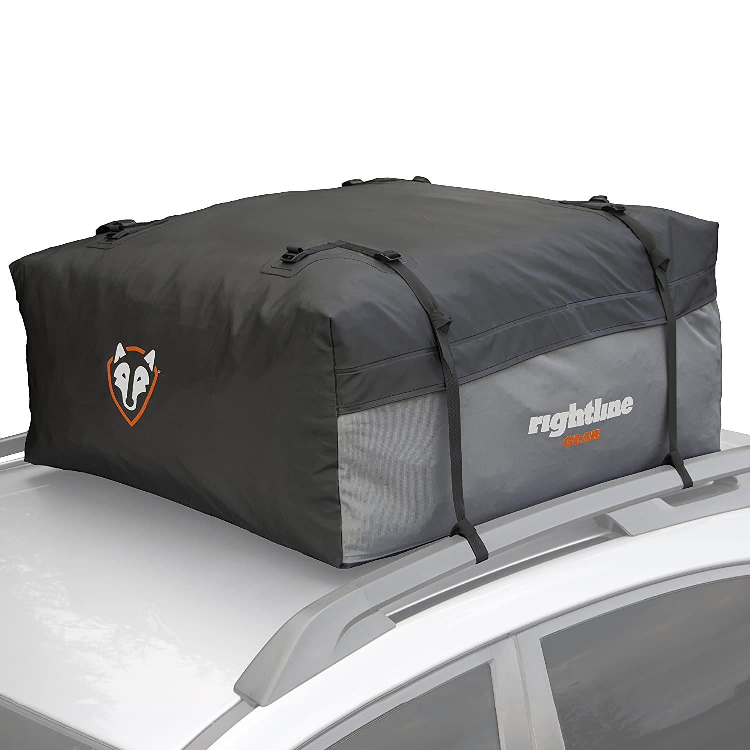 Rightline Gear 100S10 Sport 1 Car Top Carrier, 12 cubic feet, 100% Waterproof, works with or without vehicle roof rack
