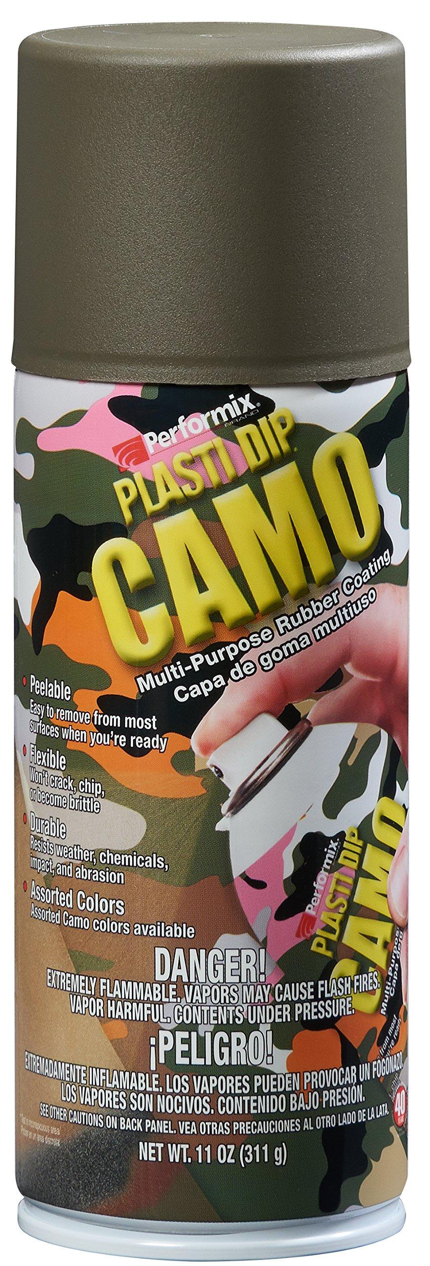 Plasti Dip Performix (11217-6-6PK) Green Camo Spray - 11 oz. Aerosol, (Pack of 6)