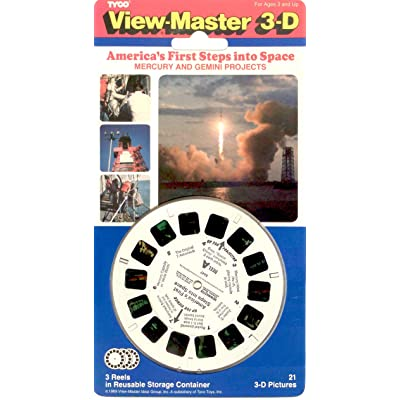 View-Master 3D 3-Reel Card America in Space Mercury & Gemini: Toys & Games
