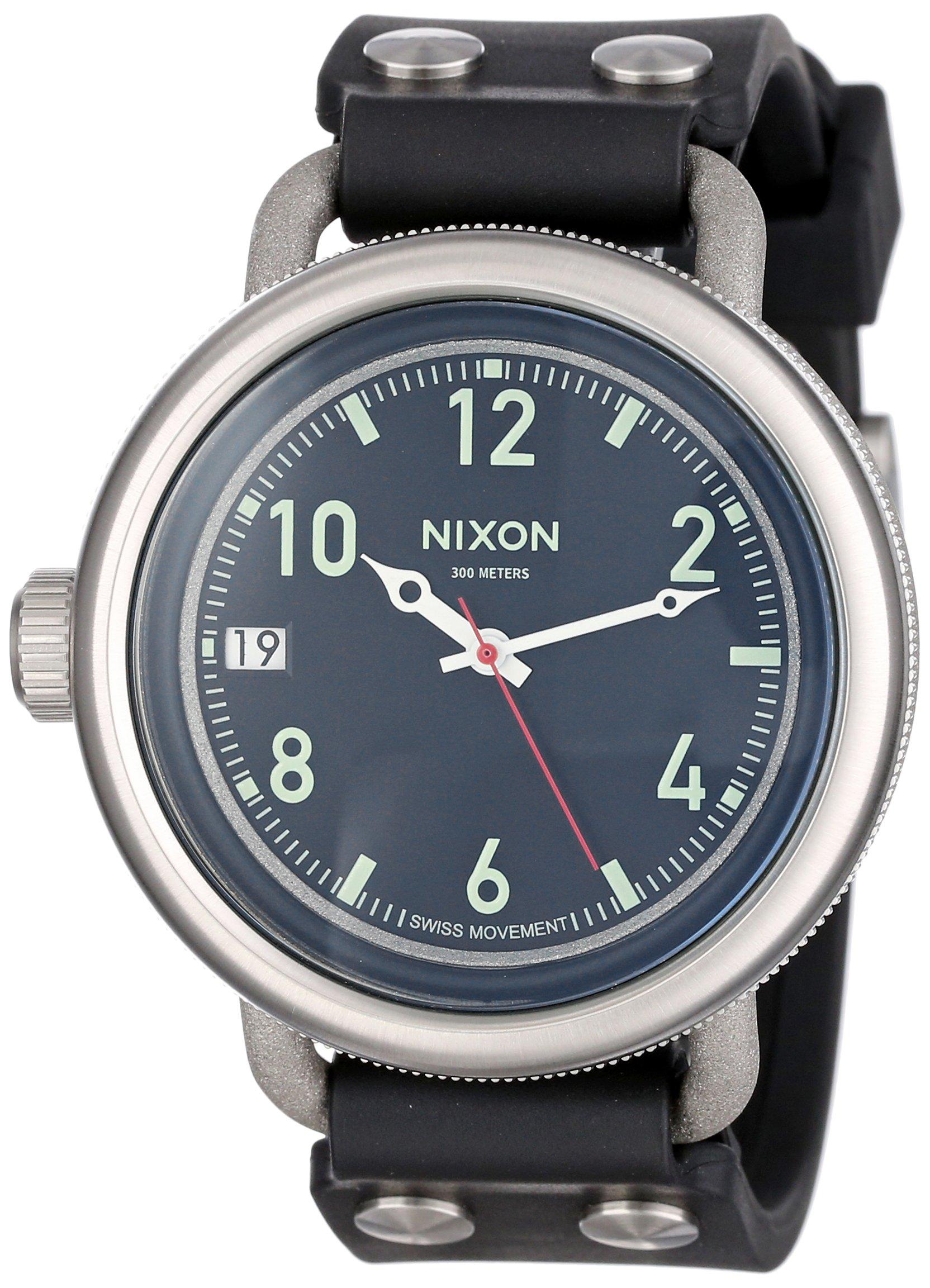 Nixon Men's A488-000-00 October Analog Display Swiss Quartz Black Watch by NIXON