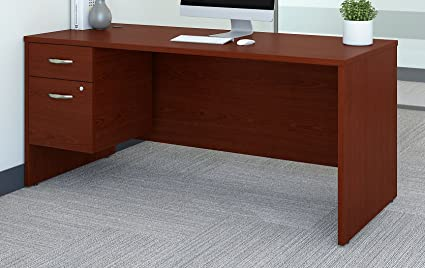 Bush Business Furniture Series C 66W X 30D Office Desk With 3/4 Pedestal In