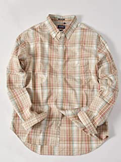 Madras Buttondown Shirt 121-17-0025: Beige