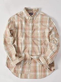 Madras Buttondown Shirt 121-17-0025: Beige