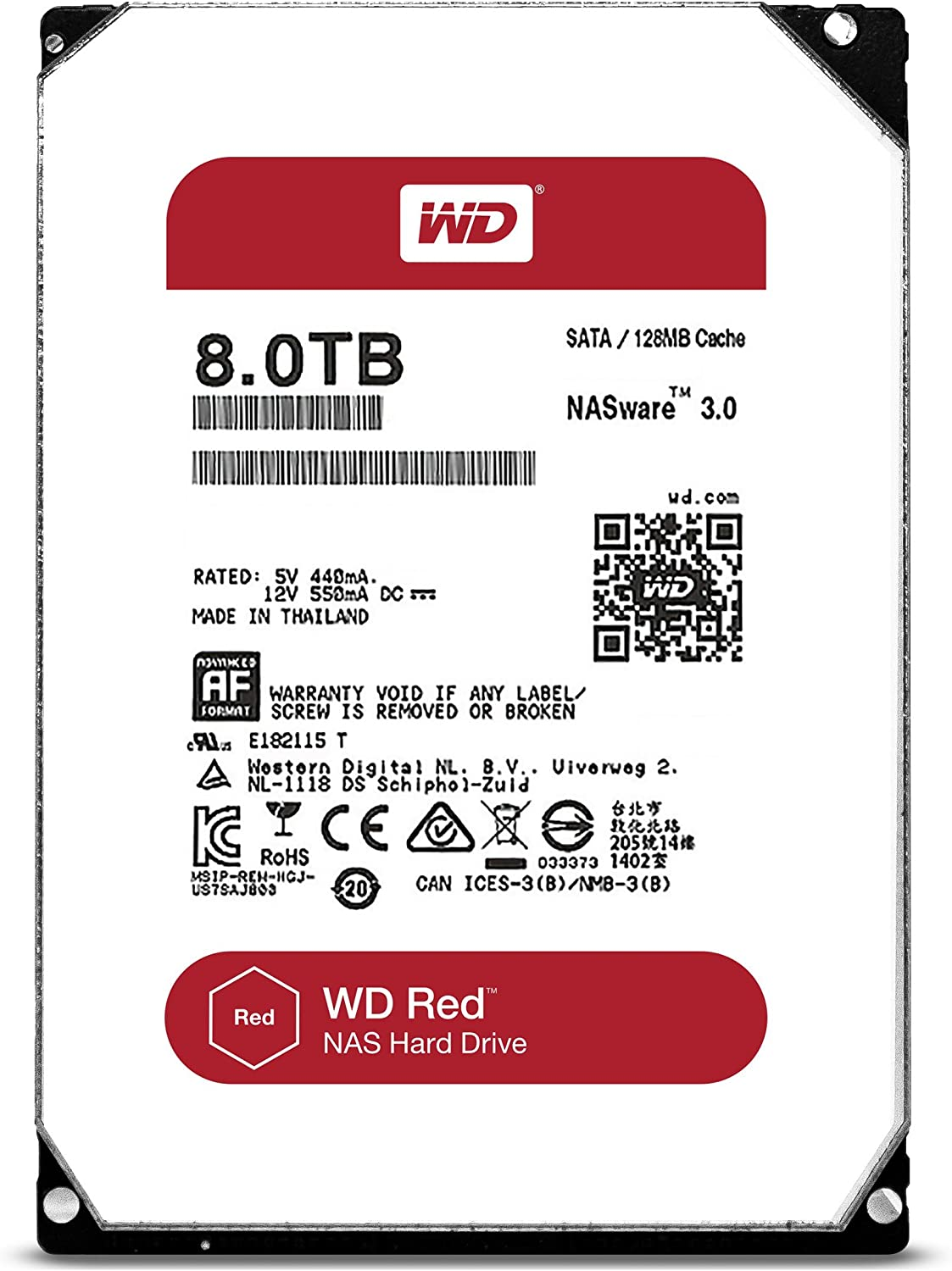 Western Digital WD80EFZX Disco Duro, 8TB: Western-Digital: Amazon ...