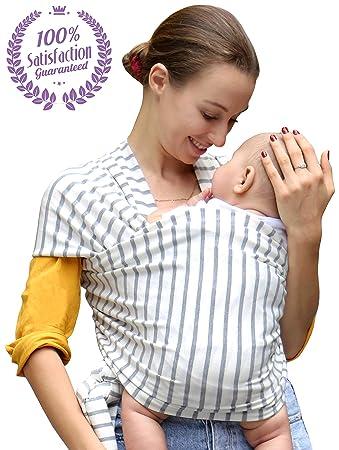 Amazon Com Bonne Vie Baby Wrap Carrier For Newborn Infants