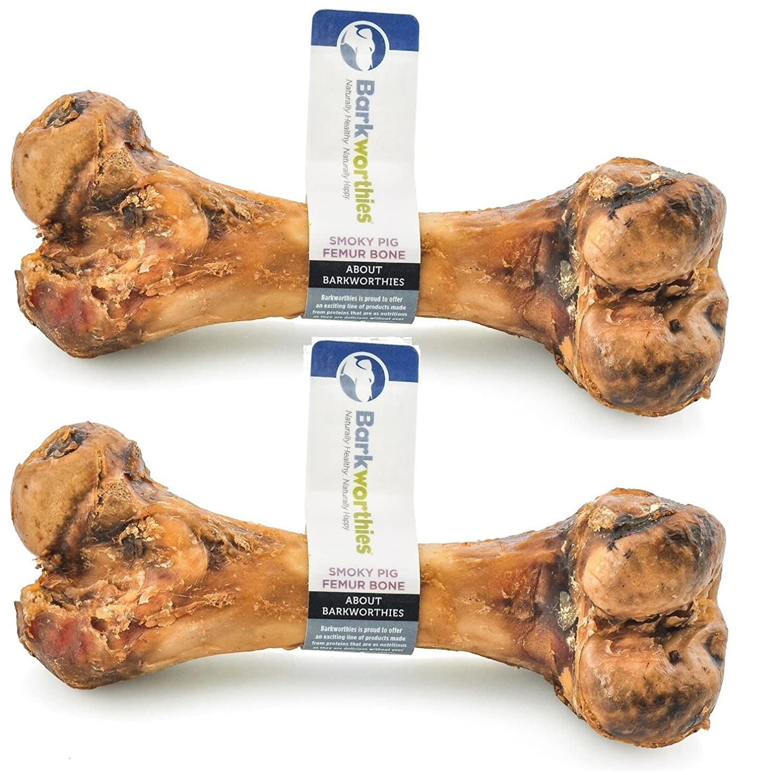 Barkworthies Smoky Pig Femur Bone (Pack of 2)