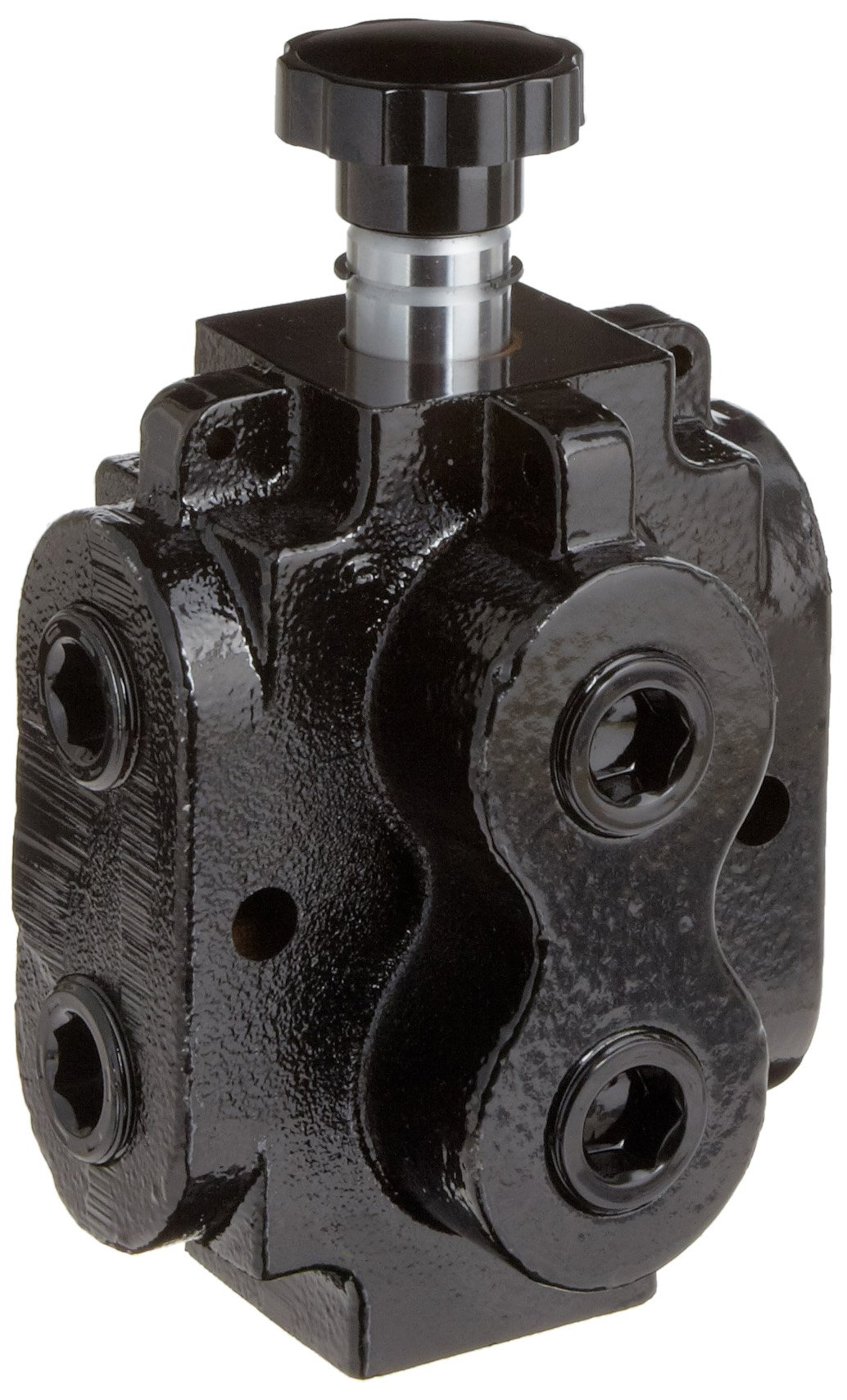 Prince DS-4A1D Directional Control Valve, Monoblock, Cast Iron, 1 Spool, 6 Ways, 2 Positions, Knob Handle, 2500 psi, 40 gpm, 3/4'' NPT Female by Prince Manufacturing (Image #1)