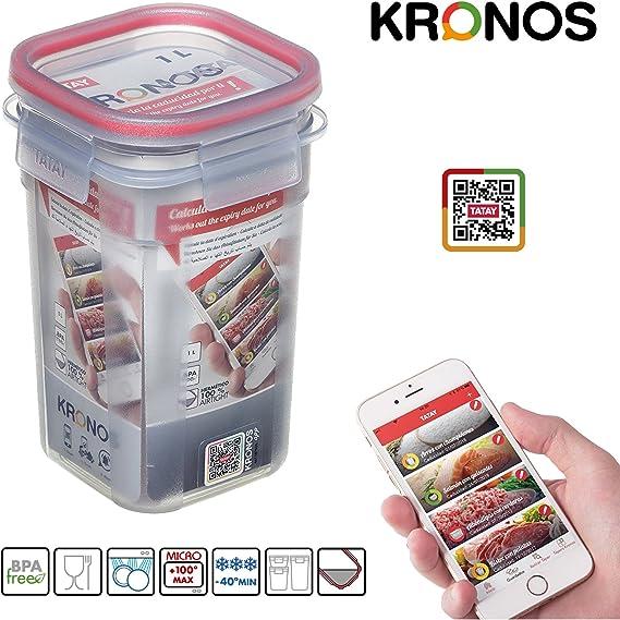 PracticFood Juego 3 Contenedores Herméticos Clip Safe Kronos ...