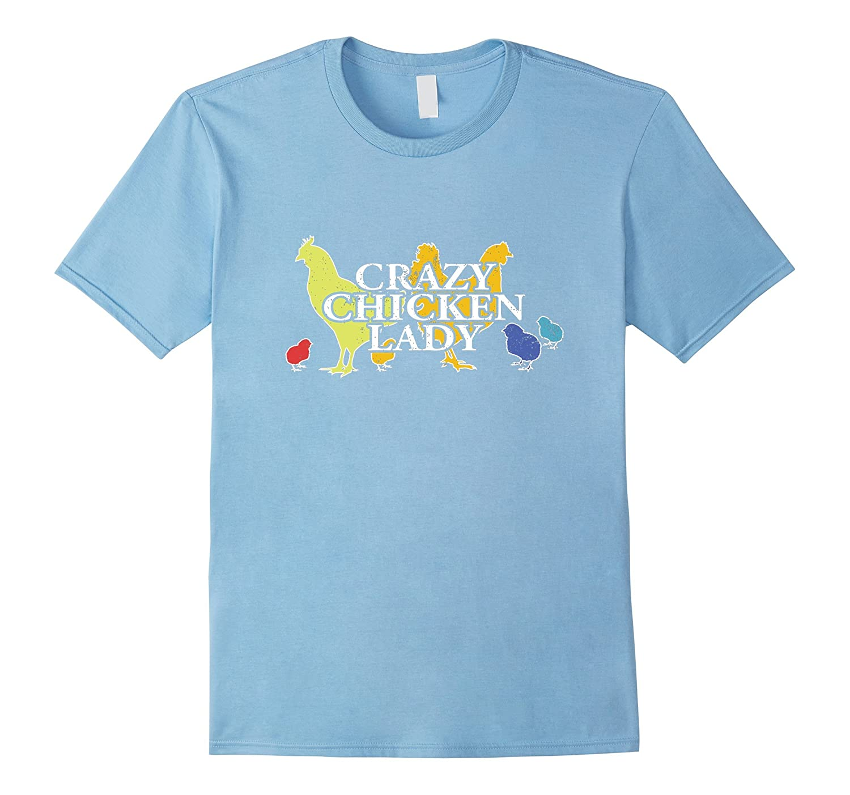 Chicken T Shirt Crazy Chicken Lady Chicken Tee Shirts-RT