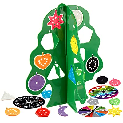 Skoolzy Tree Shape Sorter - Montessori Educational Counting & Color Sorting Toys for Toddlers, Preschool. Fine Motor Skills Sensory Shapes Learning for 3-7 Year Olds: Toys & Games
