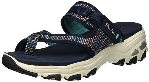 7cd6f60f7b06 Skechers Women s D Lites-thro back Flip-Flop Navy 5 B(M) US  Buy ...