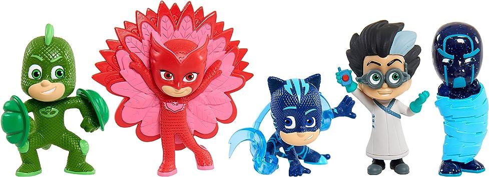 PJ Masks-24688 Pack de 5 Figuras-Súper Poder, Multicolor (Bandai 95280)