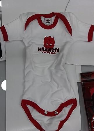 Body bébé garçon AC Milan Habillement Supporters équipes Football   19608 1d216eead94