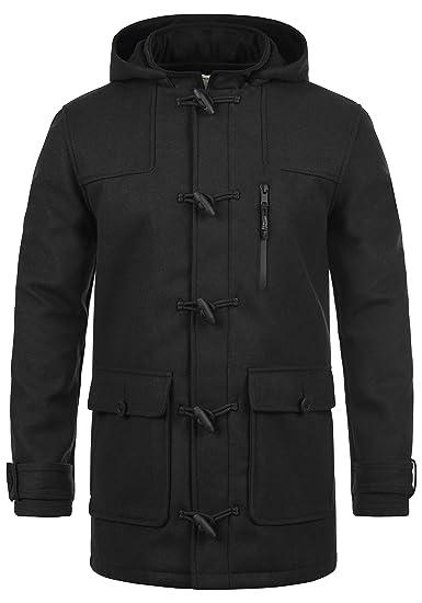 Redefined Rebel Mozart Duffle-Coat Abrigo Chaqueta De Lana para Hombre con Cuello Alto: Amazon.es: Ropa y accesorios