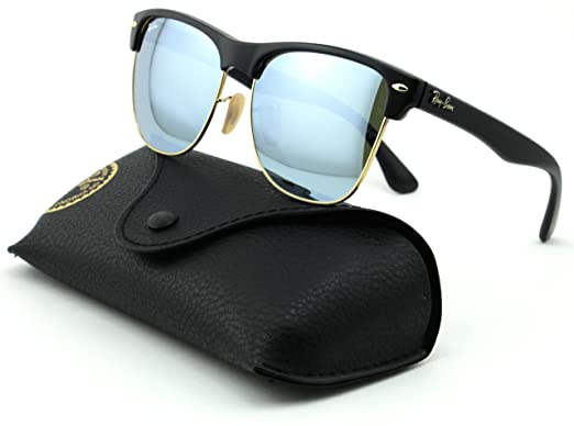 a6af20b60a9 Amazon.com  Ray-Ban RB4175 Clubmaster Oversized Unisex Mirrored Square  Sunglasses (Demi Shiny Black Frame