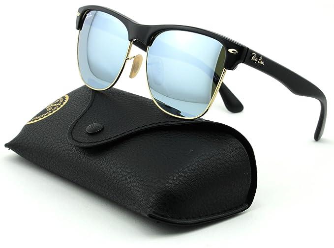 Amazon.com  Ray-Ban RB4175 Clubmaster Oversized Unisex Mirrored Square  Sunglasses (Demi Shiny Black Frame, Light Green Mirror Silver Lens 877 30)   Clothing 575e382e509d