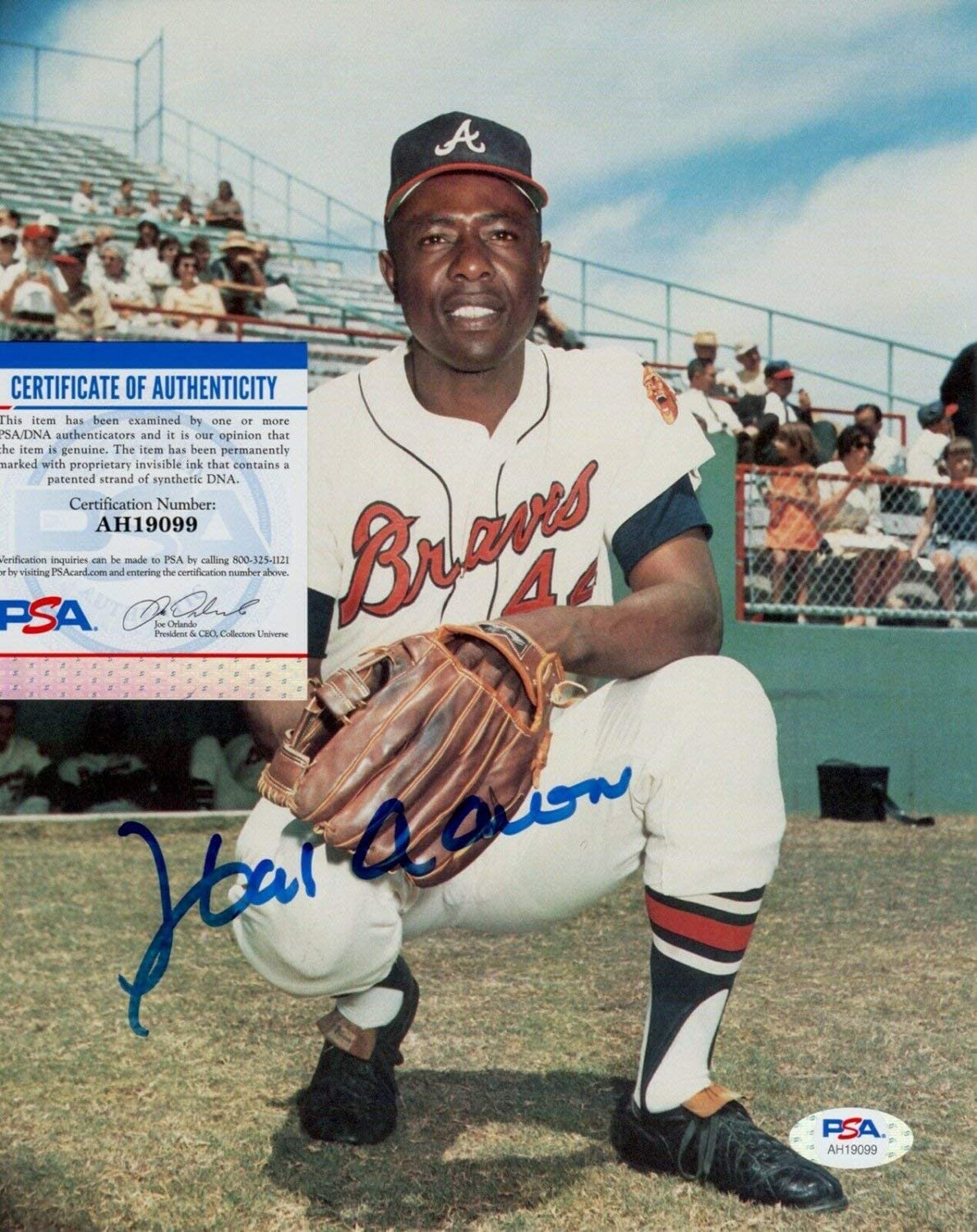MILWAUKEE BRAVES YOUNG STAR PHIL NIEKRO IN THIS GREAT 8x10 PORTRAIT