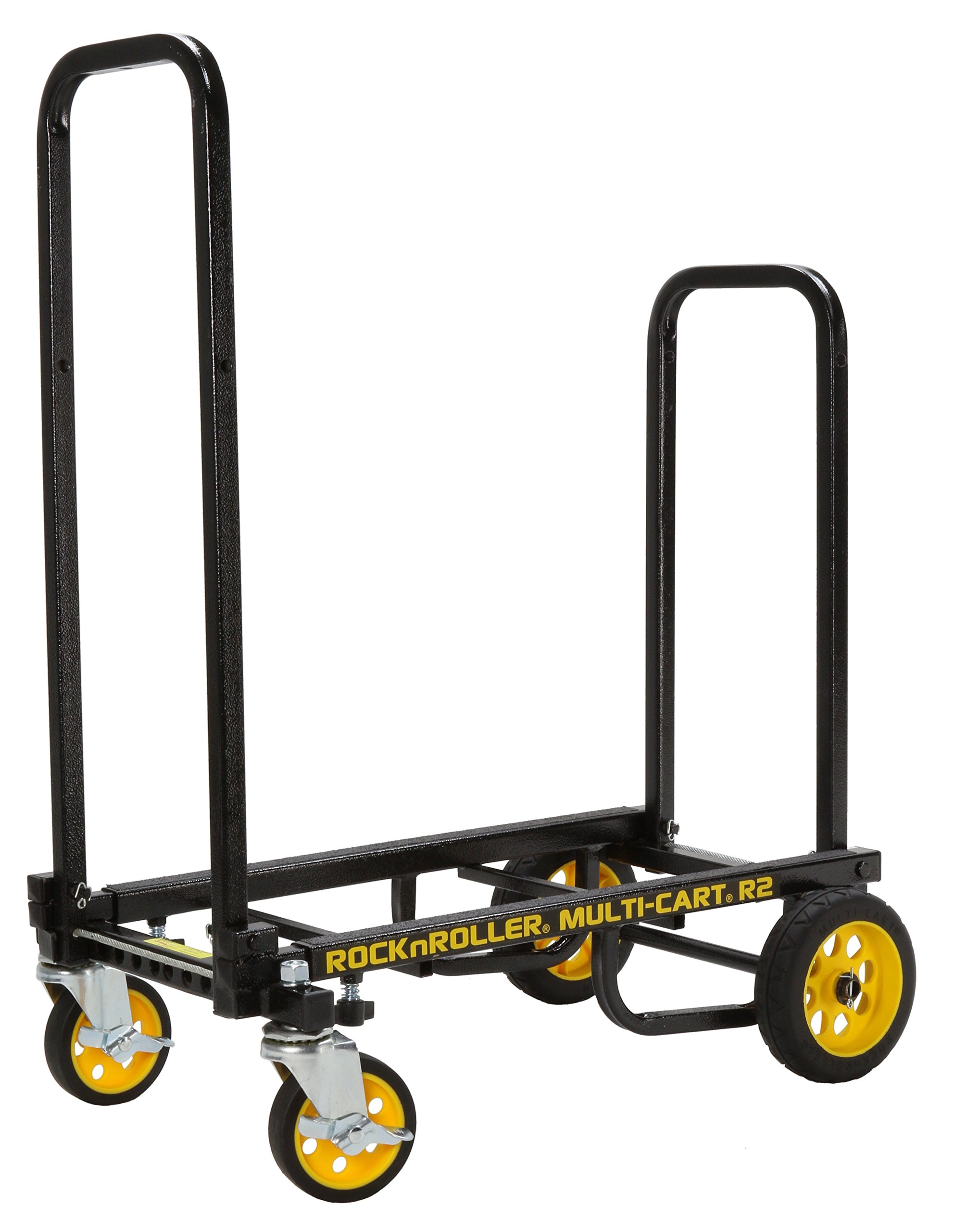 Rock-N-Roller R2RT (Micro) 8-in-1 Folding Multi-Cart/Hand Truck/Dolly/Platform Cart/26'' to 39'' Telescoping Frame/350 lbs. Load Capacity, Black by Rock-N-Roller