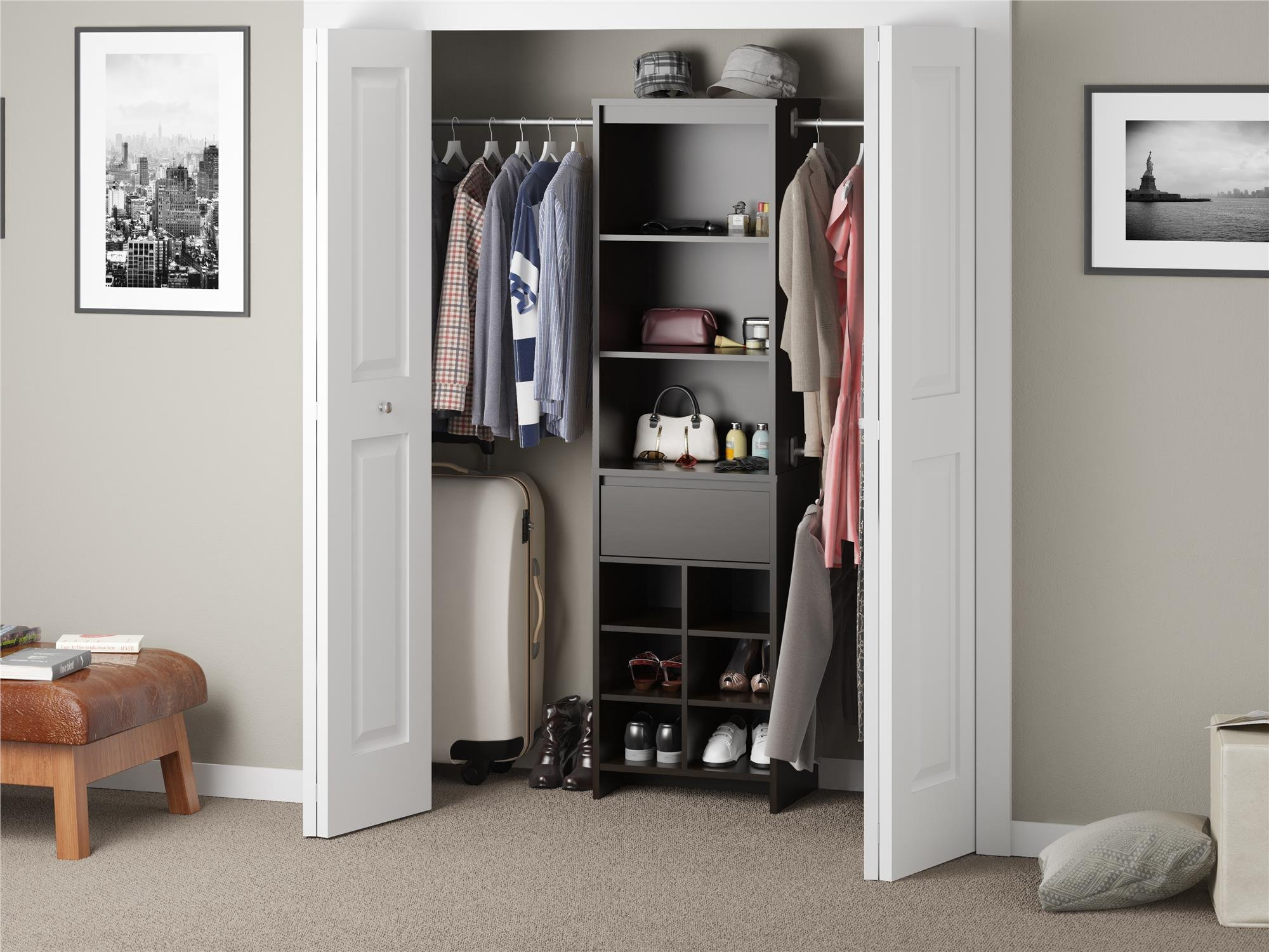 Ameriwood Home Adult Closet System, Espresso by Ameriwood Home (Image #4)
