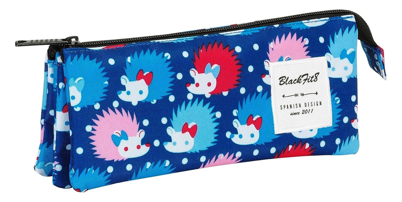 Blackfit8-Estuche portatodo Triple, Color Azul (SAFTA 841641744): Amazon.es: Juguetes y juegos