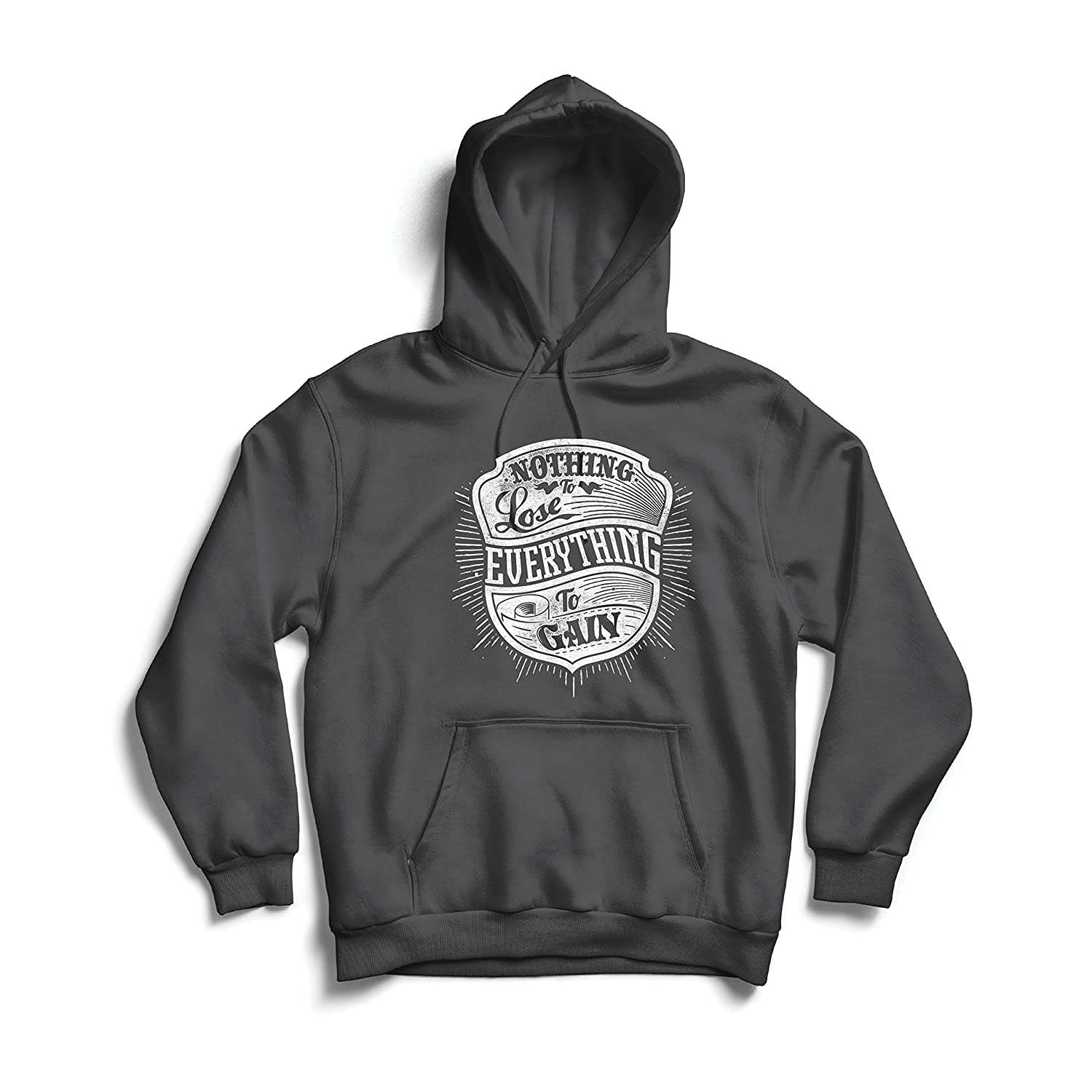 Amazon.com: lepni.me Hoodie Nothing to Lose - Everything to Gain! - Quotes to Inspire Success in Your Life and Business: Clothing