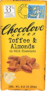 product image for Chocolove - Milk Chocolate Bar Toffee & Almonds - 3.2 oz.