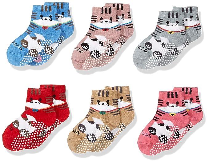 Amazon.com: Calcetines antideslizantes para niñas, niños ...